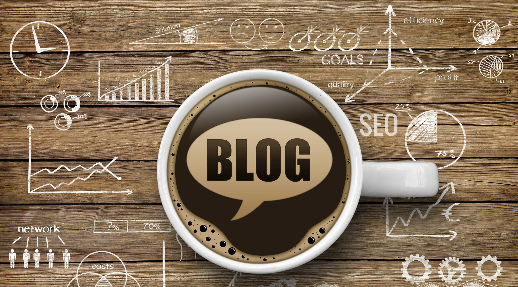 SEO keywords in blog coffee
