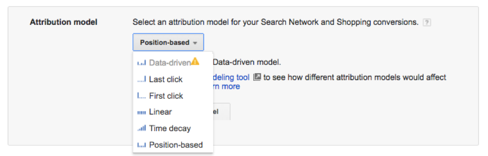 Google Attribution Settings