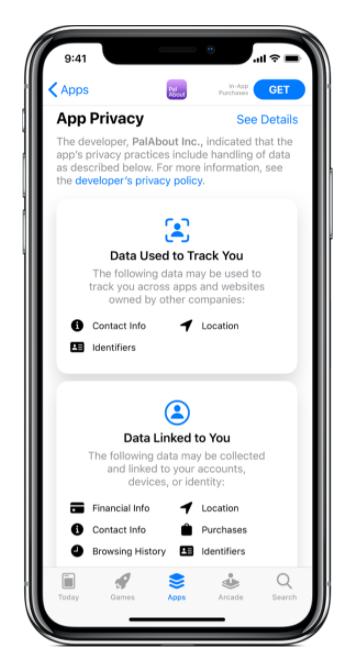 iOS 14 app privacy